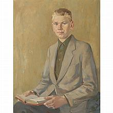 George Cherepov Lithuanian/American, 1909-1987 Portrait of a Boy Reading, 1958