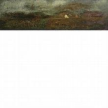 Charles Henry Miller American, 1842-1922 (i) Farm Scene, 1903 (ii) Mill in Landscape