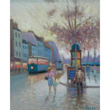 Luciano Rampaso Italian, b.1936 Paris Street Scene