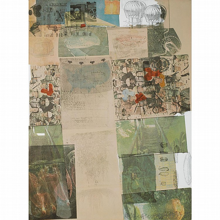 Robert Rauschenberg DEPOSIT Color offset lithograph and pochoir