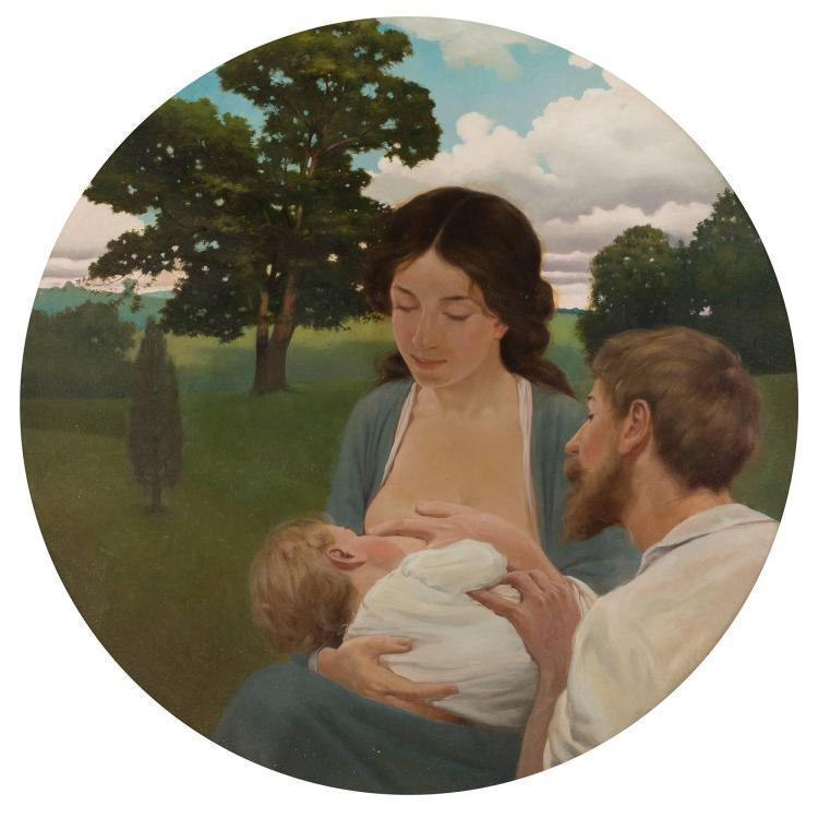 Frank von der Lancken American, 1872-1950 Family Group