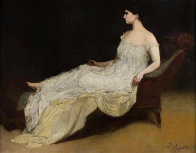 George Da Maduro Peixotto American, 1858-1937 Portrait of Marie-Aimee Roger-Miclos, Pianist, 1893