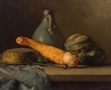 Robert Schade American, 1861-1912 Still Life: Vegetables, Pan and Jug, 1906