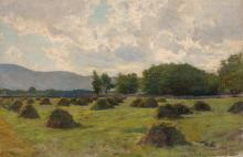 Hugh Bolton Jones American, 1848-1927 Haystacks in a Field