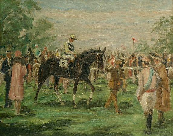 Franz Hienl-Merre German, 1869-1943 AT THE RACES