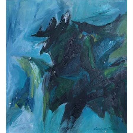 Edward Millman American, 1907-1964 Green Metaphor, 1960