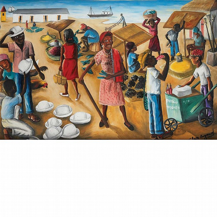 Wilson Bigaud Haitian, b. 1929 At the Market
