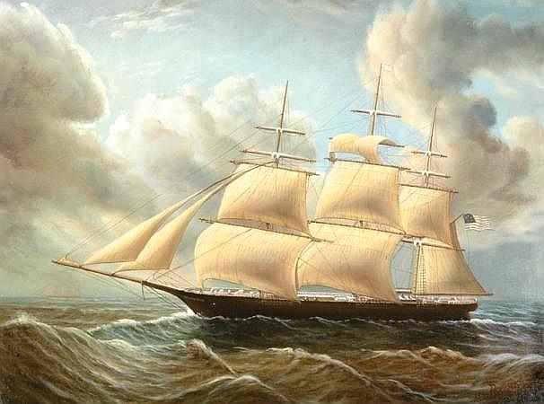 D. Tayler American, 20th century Ship at Sea