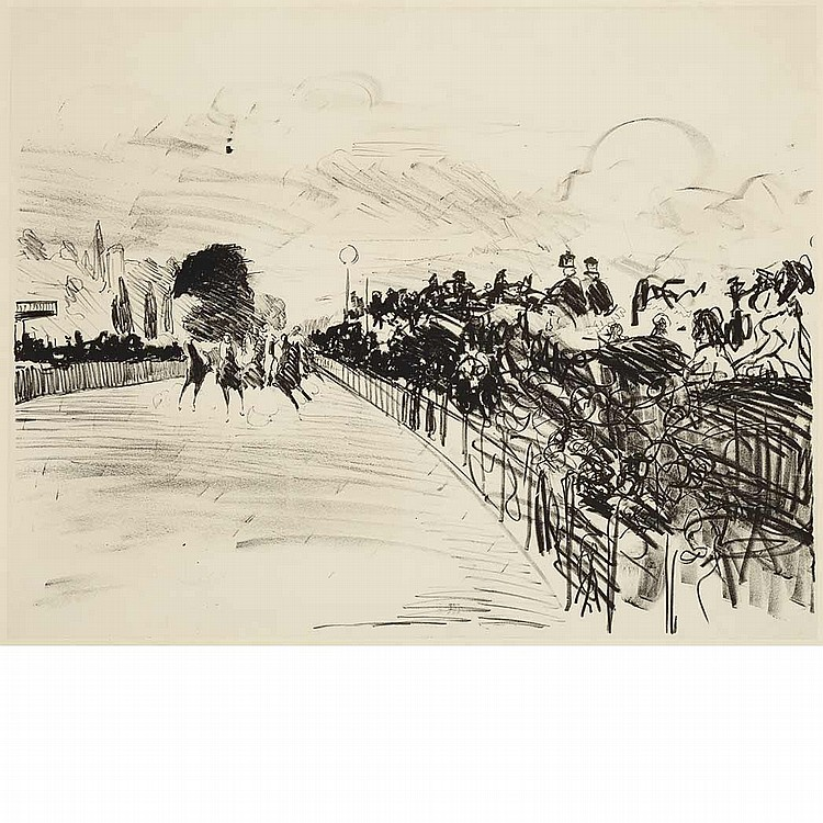 Edouard Manet LES COURSES Lithograph