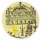 Ludwig Bemelmans MADELAINE AND THE OPERA Painted and glazed white ceramic plate