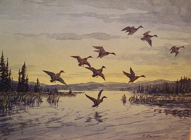 Hans Kleiber American, 1887-1967 Morning