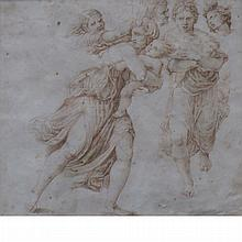 Central Italian School 16th Century Study of Figures for a Massacre of the Innocents