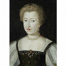 French School 16th Century Portrait of a Noble Lady