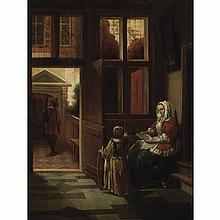 After Pieter de Hooch Lady Reading a Letter
