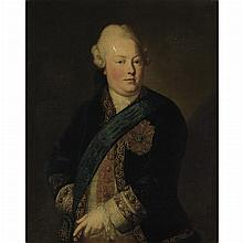 French School 18th Century Portrait of a Nobleman Wearing the Badge and Sash of the St. Michael Order of Merit