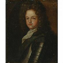 British School 17th/18th Century Portrait of a Young Nobleman in Armour, said to be James II of England as a Boy