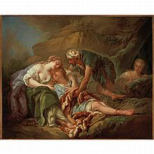 After Francois Boucher Aminta Brought Back to Life in the Arms of Sylvia