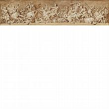 Italian School 18th Century Battle of Lapiths and Centaurs: A design for a frieze