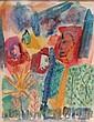 Henry Arthur Miller American, 1891-1980 Figures in a Landscape, 1945, Henry Arthur Miller, Click for value