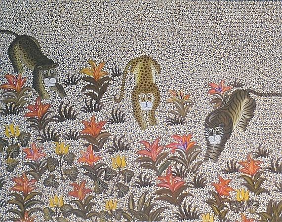 Yannis Amoryanos Born 1944 Marching in the Daisies, 1974