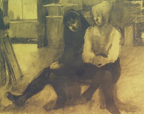 Richard Segalman American, b. 1934 Two Women