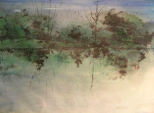 Sylvia Bernstein American, 1918-1990 Untitled Landscape