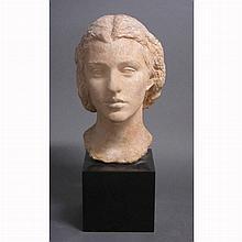 Antonio Salemme American, 1892-1995 Mrs. Chauncey Stillman, 1945 Signed Antonio Salemme Terra cotta, on...