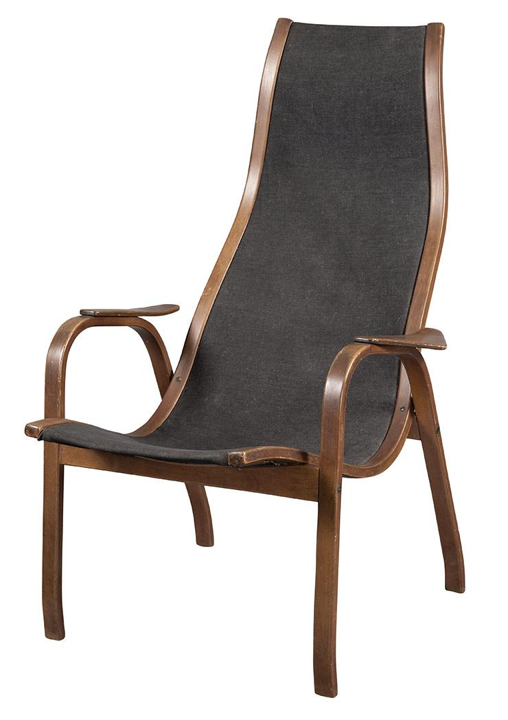 Yngve Ekstrom Swedish, 1913-1988 Lamino Lounge Chair, 1956