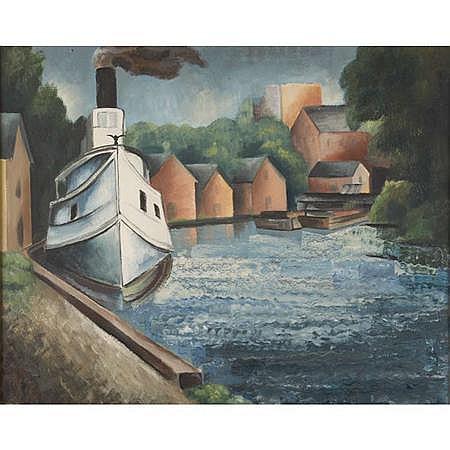 Konrad Cramer American, 1888-1963 Tug Boat (Saugerties Boat)