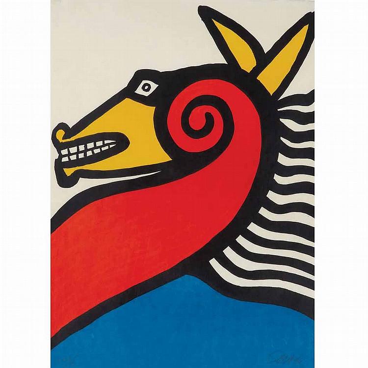 Alexander Calder [HORSE] Color lithograph