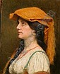 Jules Joseph Lefebvre French, 1836-1911 WOMAN IN PROFILE