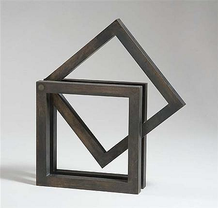 Xavier Corbero Spanish, b. 1935 Tri Square Bronze