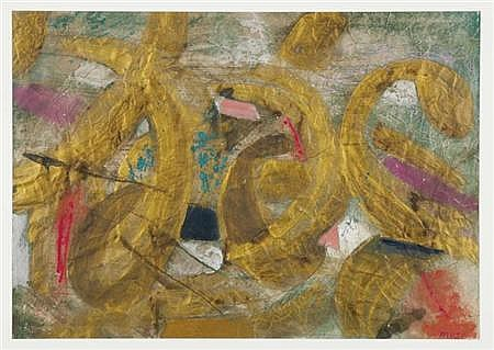 Isaac Lane Muse American, b. 1906 Golden Erotica, 1972