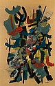 John von Wicht American/German, 1888-1970 Woodland Calligraphy, 1957, John Von Wicht, Click for value