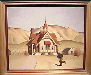 Paul Starrett Sample 1896 - 1974 MOUNTAIN SCHOOL Signed and dated Paul Sample '35 (lr) and titled