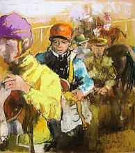 Randall Vernon Davey American, 1887-1964 Jockeys Weighing In