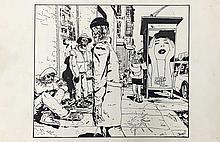 James Romberger, American, b. 1958 (i) Untitled (ii) Untitled (iii) Micheal Cycle