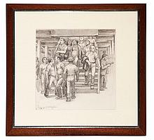 Daniel Ralph Celentano American, 1902-1980 Stairway to the Subway, 1928