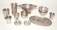 Group of English, American and Continental Silver
