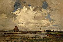 Theophile de Bock Dutch, 1851-1904 River Landscape