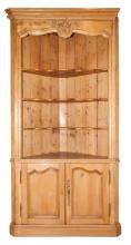 French Provincial Style Pine Corner Cabinet