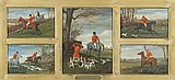 William Henry Wheelwright British, 1858-1897 Taking a Fence; Fully Cry; Out from the Woods; Spotted! and The Kill: Five Hunting Vign...
