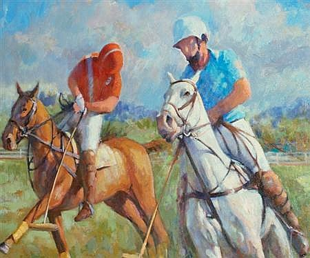 Edward Brodney American, 1910-2002 Polo Match