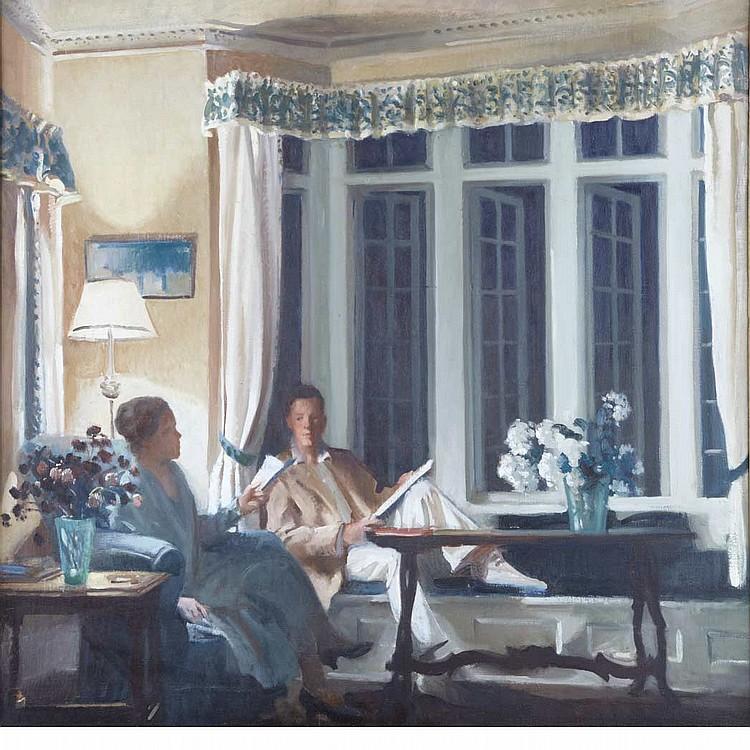 John Christen Johansen American, 1876-1964 Interiors, circa 1925