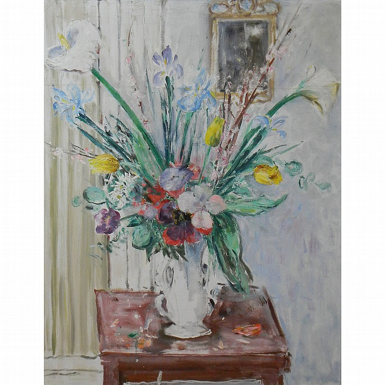 Vincenzo Colucci Italian, 1898-1970 Floral Still Life, 1967: a double-sided work