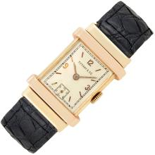 Gentleman''s Two-Color Gold ''Top Hat'' Wristwatch, Tiffany & Co.