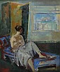 Joseph Floch Austrian, 1895-1977 Woman on a Recamier, Joseph Floch, Click for value