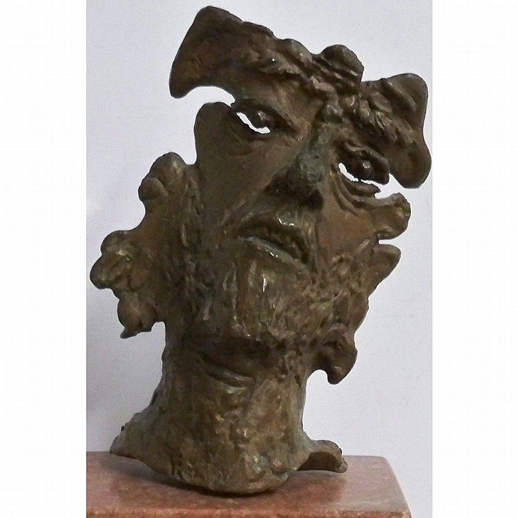 Nathaniel Kaz American, 1917-2010 Head, 1945