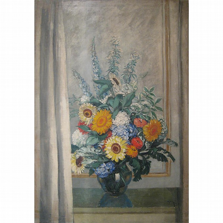 Etienne Drian French, 1885-1961 Still Life with Flowers