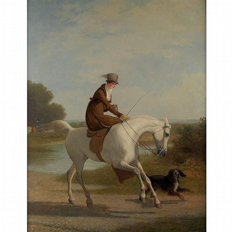 Jacques-Laurent Agasse Swiss, 1767-1849 Miss Cazenove on her Favorite Hunter